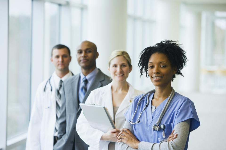Group of multi-ethnic medical professionals