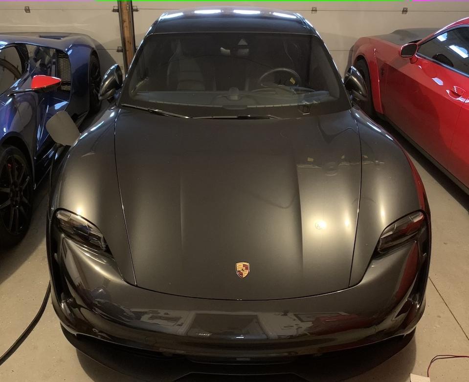 Porsche Taycan in Garage
