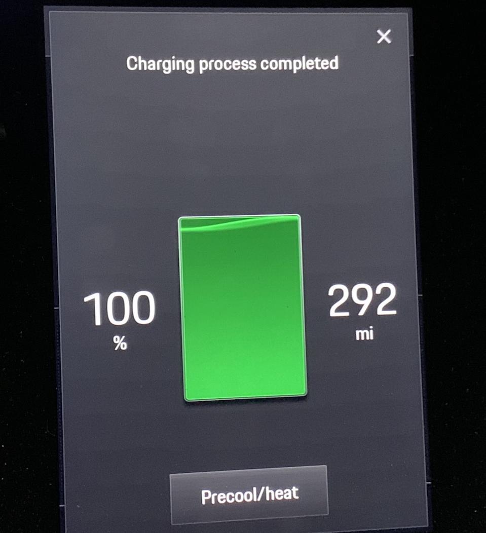 Porsche Taycan Battery Charge Screen