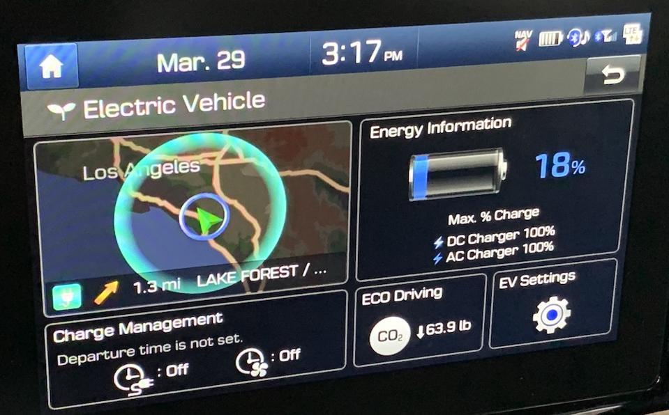 Kona EV Battery Display Screen