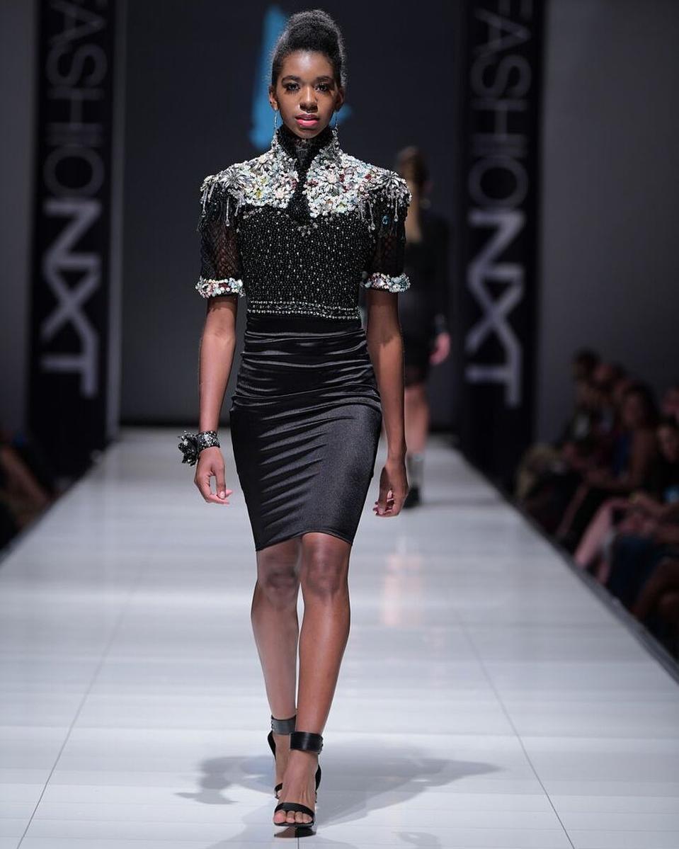 Design by Camisha Jackson of the Lunaversoul brand at Portland's FashioNXT