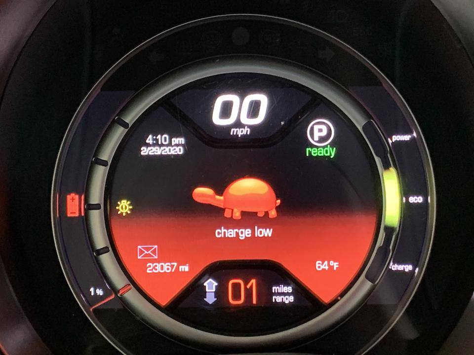 Fiat 500E Battery Charge Meter