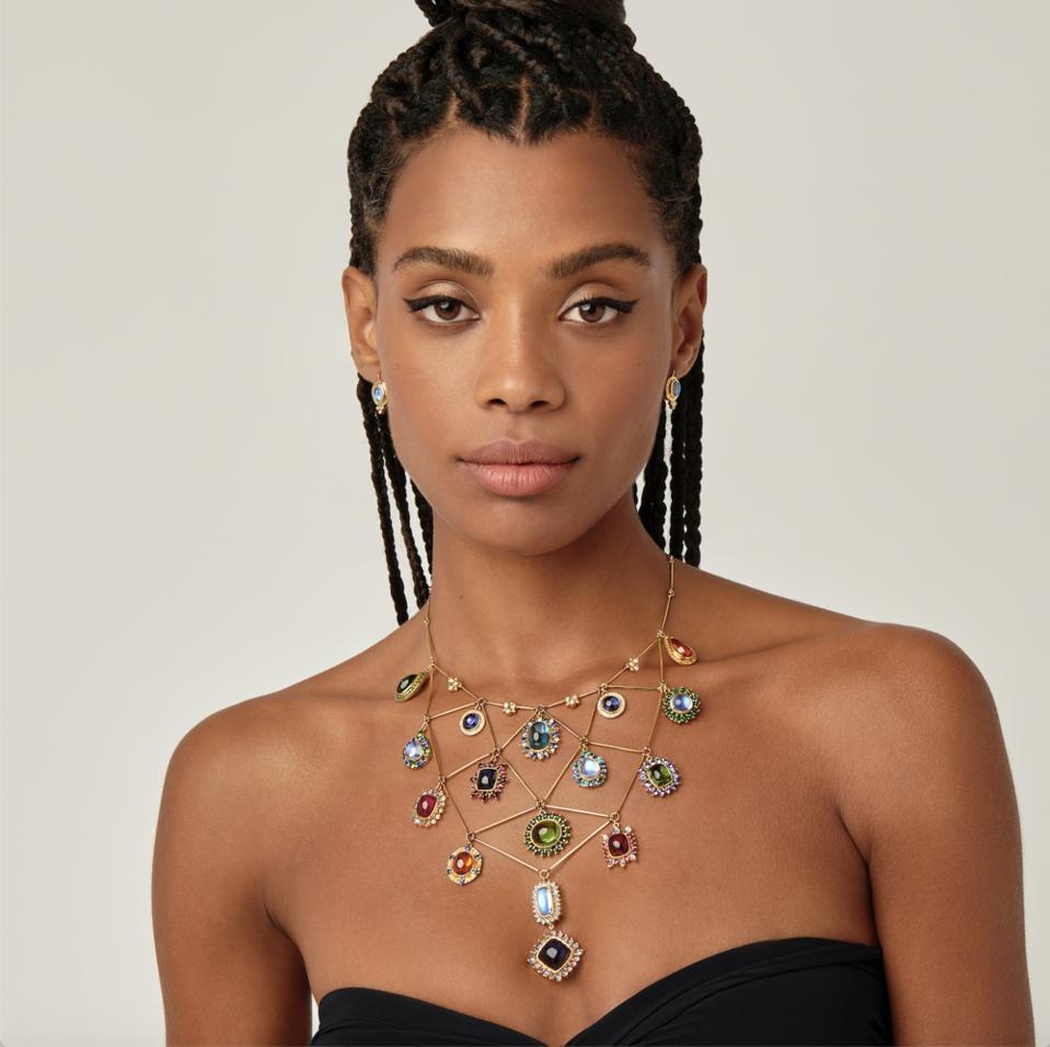 Temple St Clair 'Dreamcatcher' necklace.