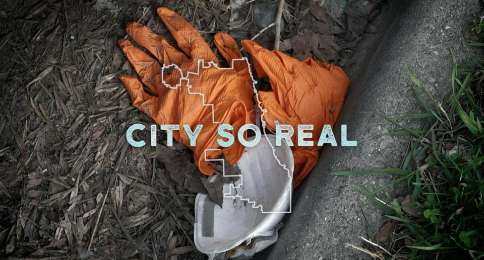 Discarded gloves and mask City So Real documentary