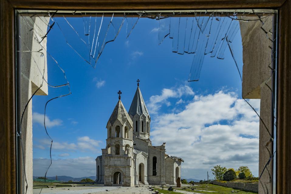 Aftermath After Azerbaijan Shelling Over The Shushi Cathedral In Nagorno Karabakh
