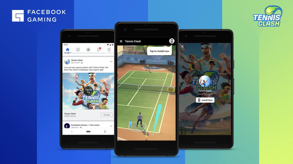 Facebook Gaming is launching a streaming cloud gaming service which will include Tennis Clash.