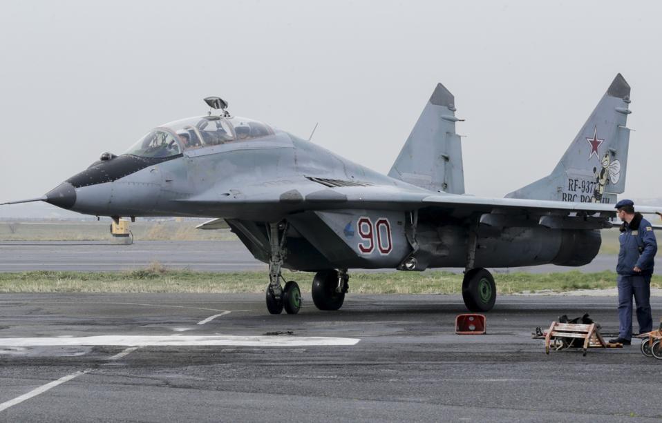 Russian State Duma Chairman Naryshkin visits Erebuni air base in Armenia