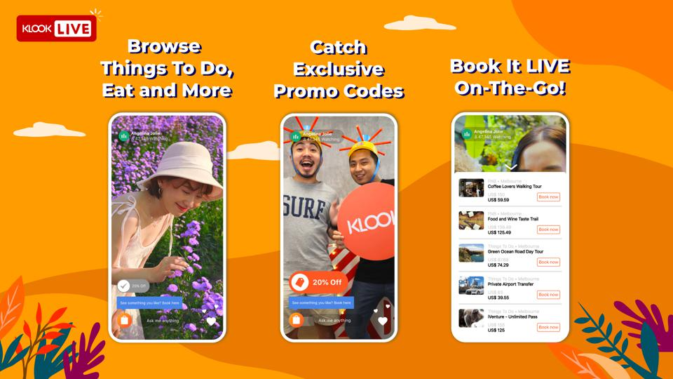 Klook Live! broadcasts and features experiential activities through livestreaming.