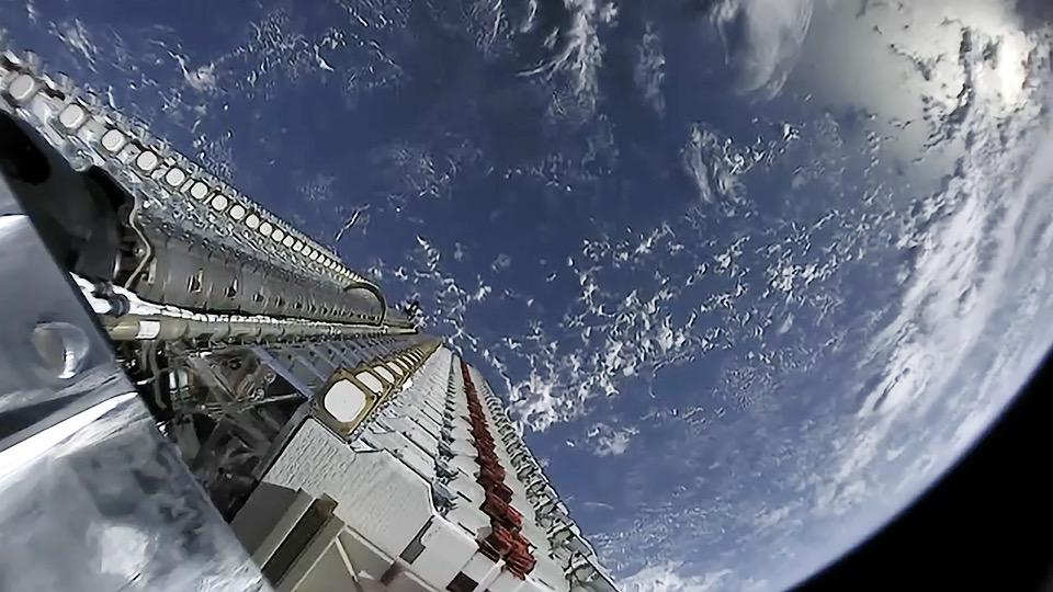Earth from a Starlink satellite