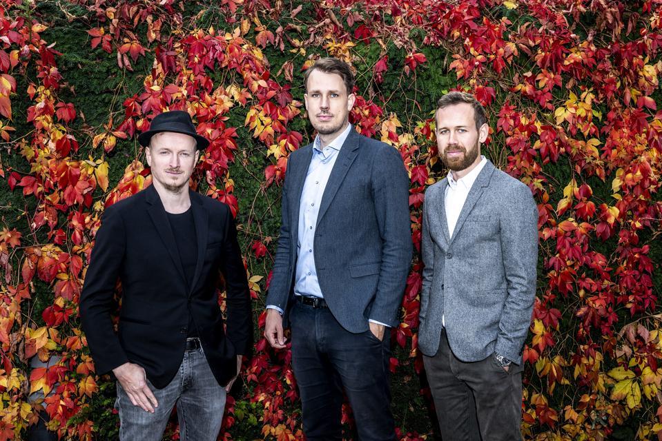 Image of InchByInch founders Daniel Laursen, Rasmus Bruun and Anders Randrup.