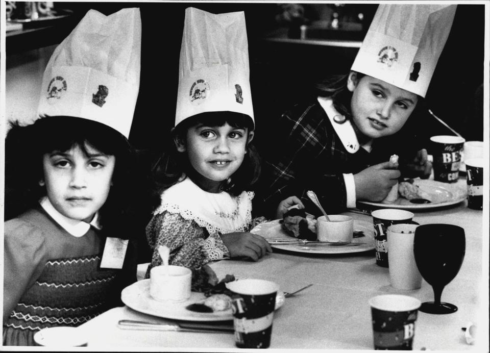 The testing of the new kids menu at the New Ritz Carlton Hotel in Macquarie street.4 to 10 year old children took part in the testing.Twelve children were treated to a slap-up meal when they were chosen as ″Guinea pigs″ to test a new Sydney hotel's menu.T