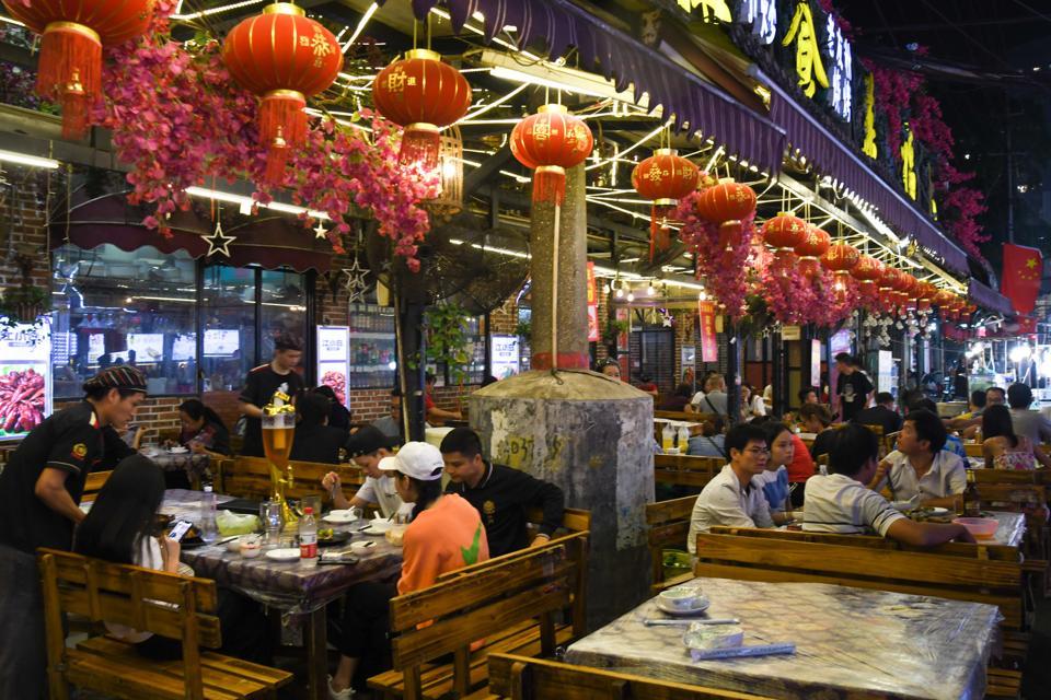 Zhongshan Road Street Food Night Market in Nanning