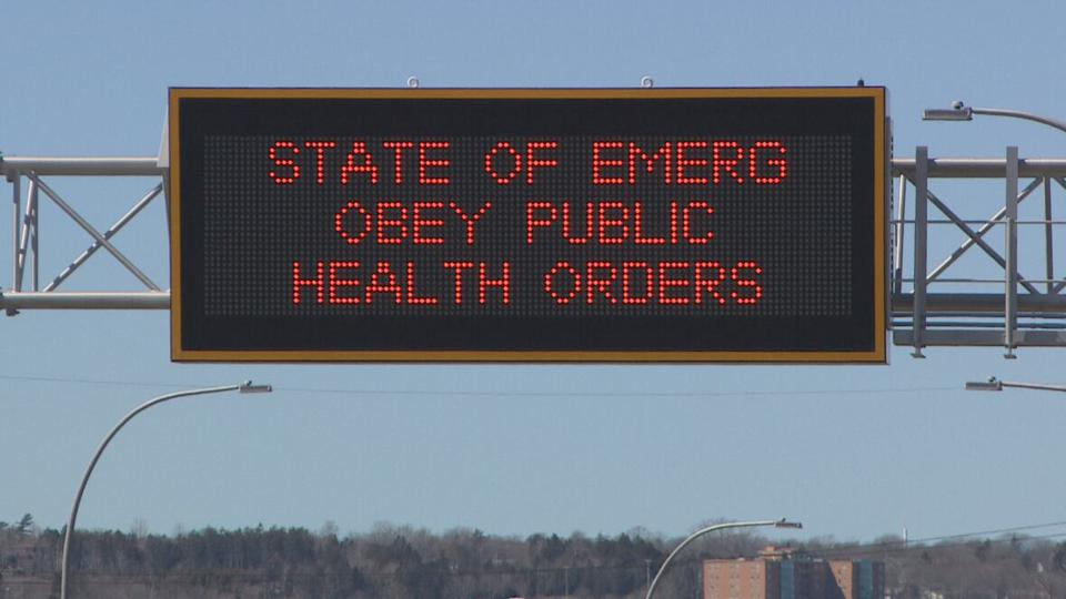 State of Emergency roadsign