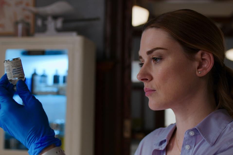 Alexandra Breckenridge as Melinda Monroe in the highly anticipated second season of Netflix's romantic drama 'Virgin River'.