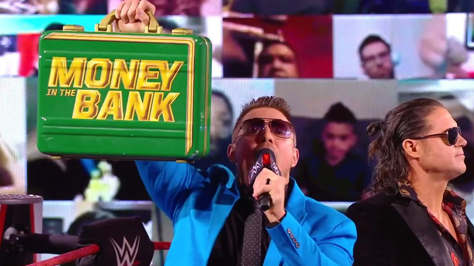 The Miz celebrated his shocking Money in the Bank briefcase win.