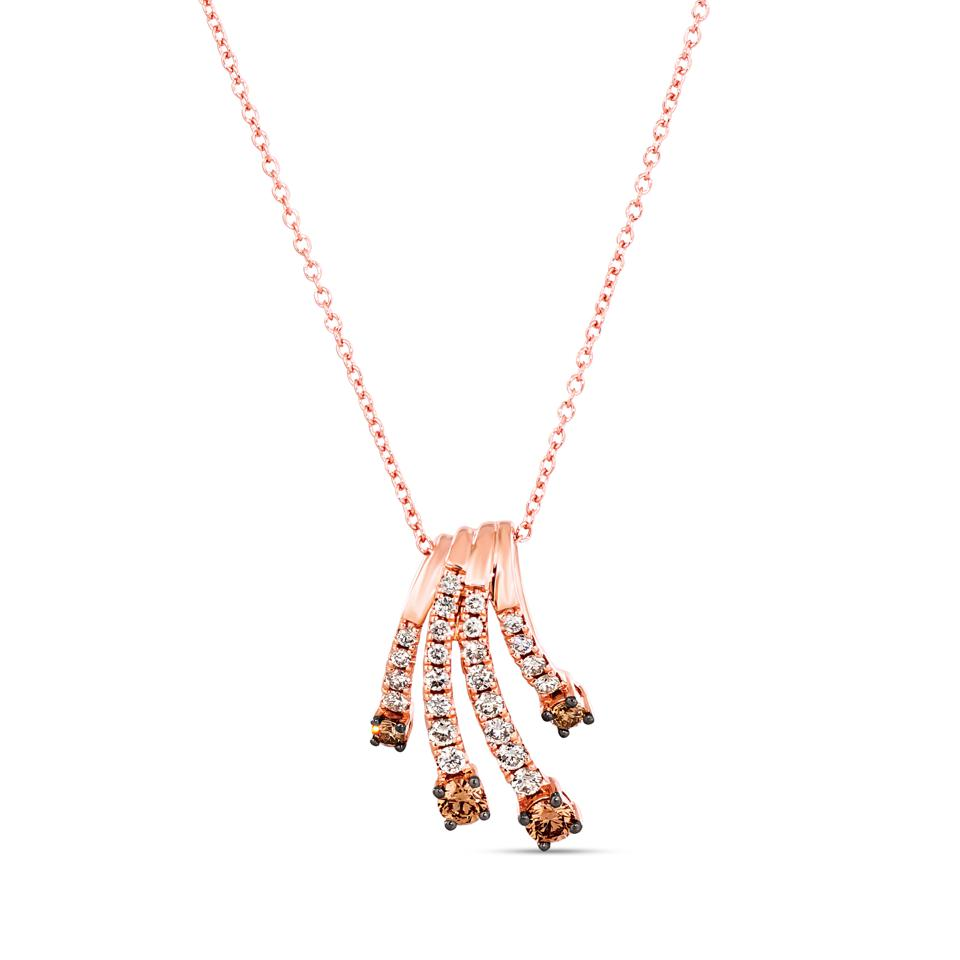 Le Vian Diamond Necklace 1/2 ct tw 14K Strawberry Gold 18″ available exclusively at Kay.com