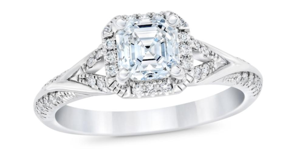 Royal Asscher Cyrene Diamond Engagement Ring by Jared