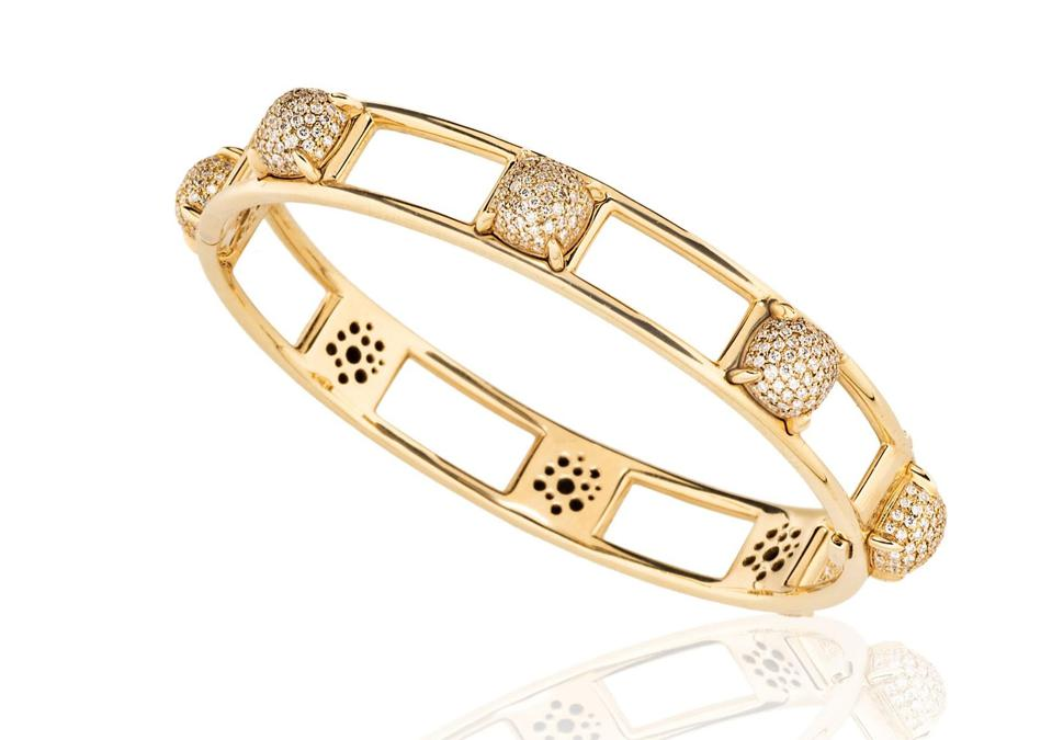 Paloma Picasso for Tiffany & Co. 18K Yellow Gold and Diamond Bracelet available at TiinaSmithJewelry.com