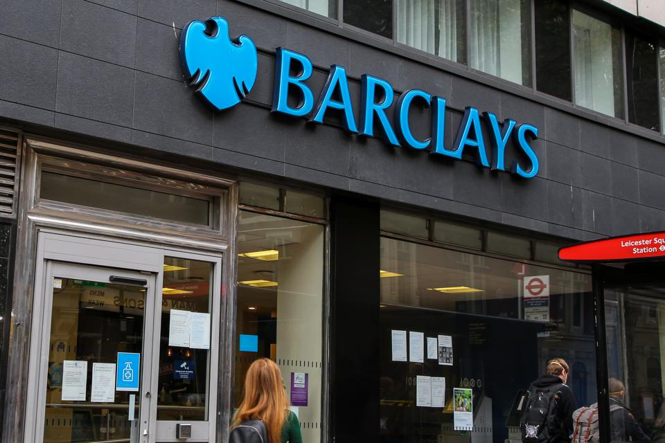 Barclays Bank branch seen in central London...