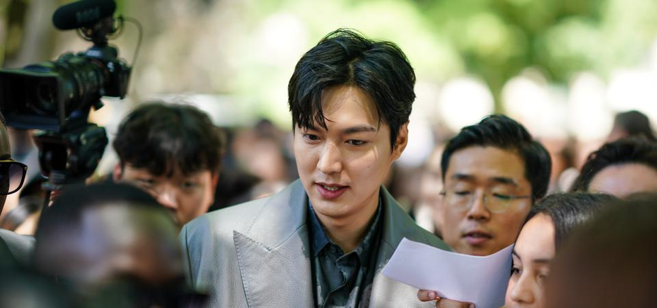 Actor Lee Min Ho at the Paris Fashion Week in June 2019.