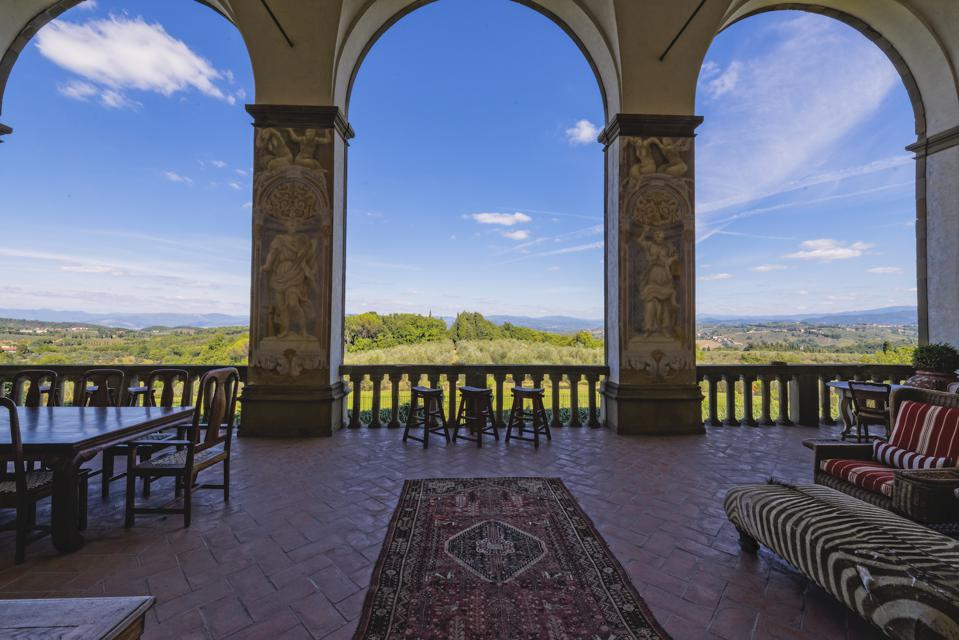 The view from Villa Machiavelli.
