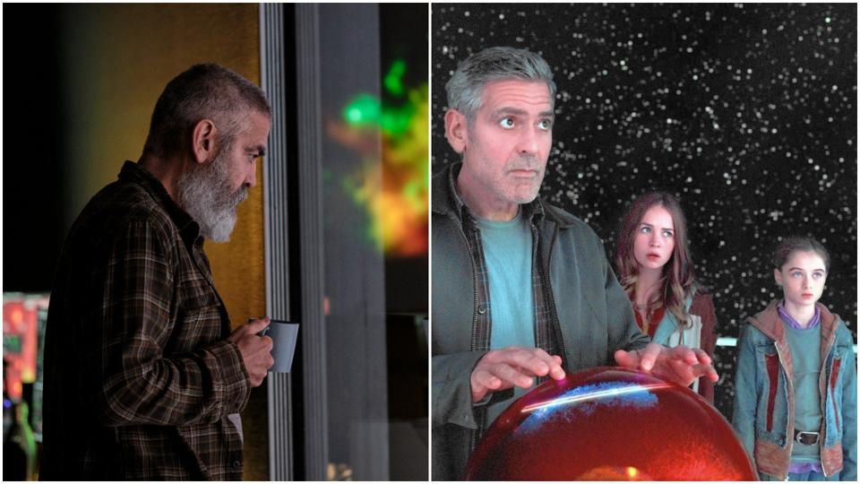 George Clooney in Netflix's 'The Midnight Sky' and George Clooney, Britt Roberston and Raffey Cassidy in Walt Disney's 'Tomorrowland'
