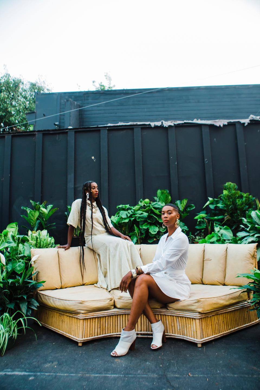 Kalkidan Gebreyohannes and J'Maica Roxanne, founders of Blk Girls Greenhouse.