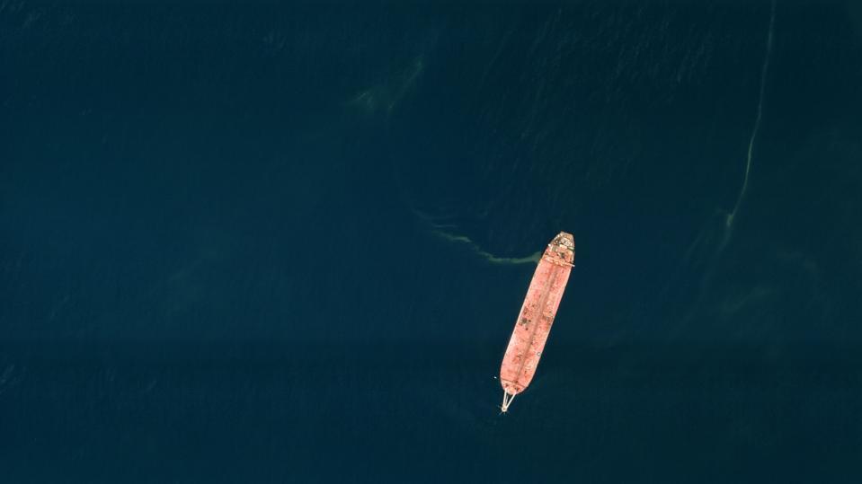 Tanker in the sea.
