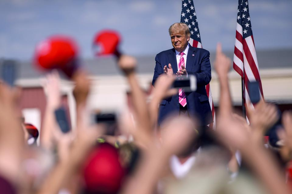 Donald Trump Holds Campaign Rally In North Carolina Ahead Of Election