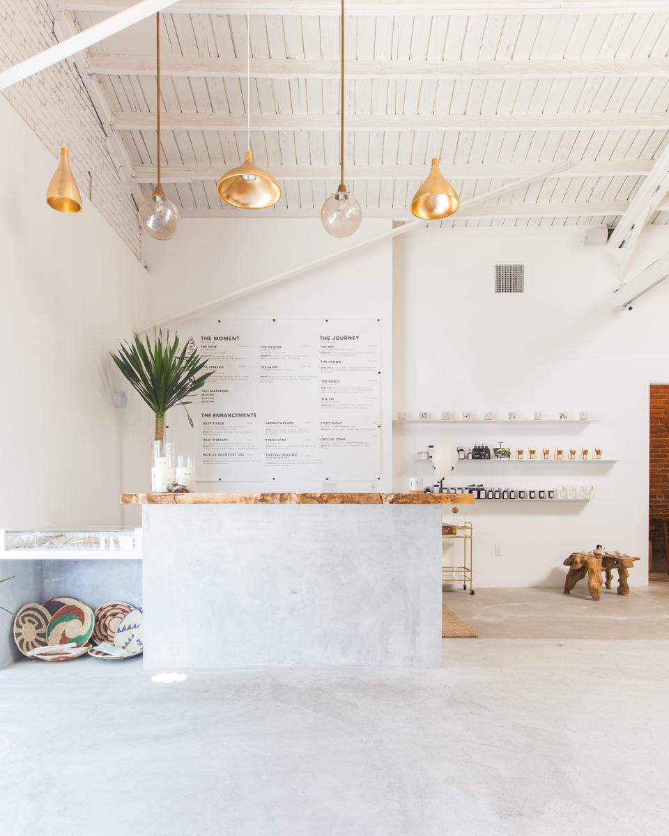 The entrance and front desk of The NOW's Silverlake location.