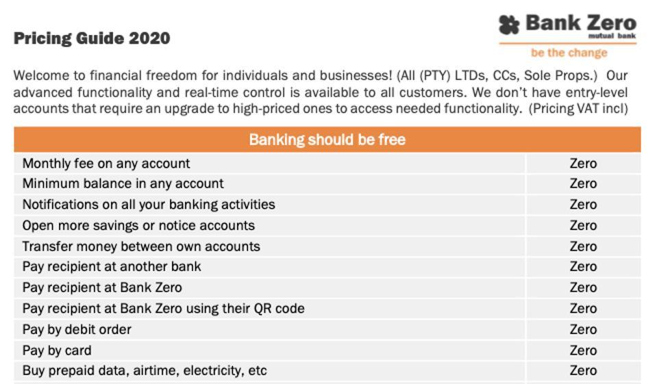 ″Banking should be free″ – fintech Bank Zero.