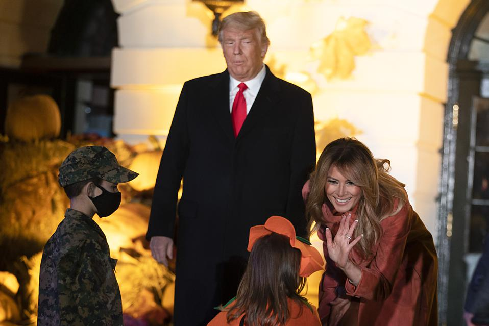 President And First Lady Host Halloween At The White House