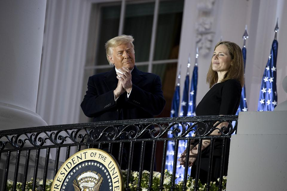 Supreme Court Justice Amy Coney Barrett At The White House