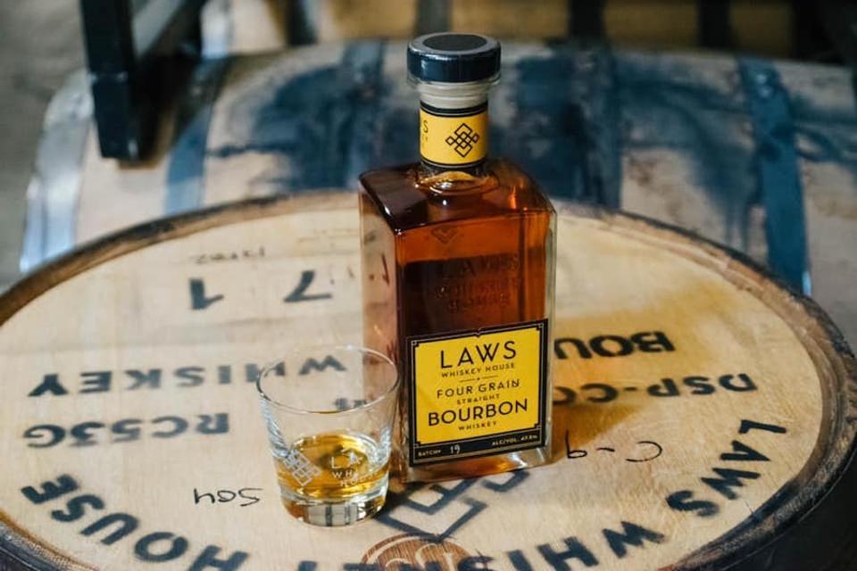 Laws Whiskey Four Grain Bourbon.