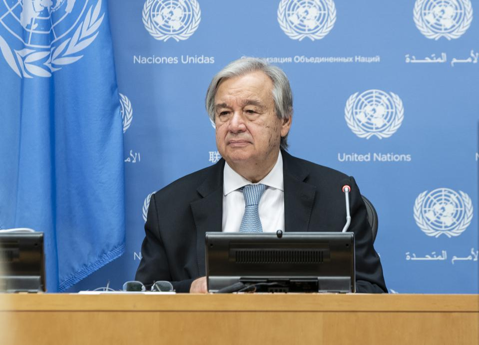 UN Secretary-General Antonio Guterres has called the Crew Change Crisis one of the largest Humanitarian Crises happening on the planet at the moment.  Seen here at a press conference at UN Headquarters.