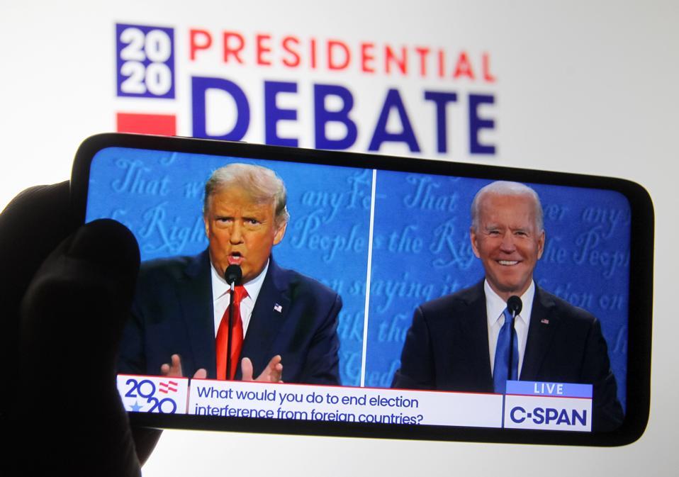 Image of the 2020 Presidential Debate