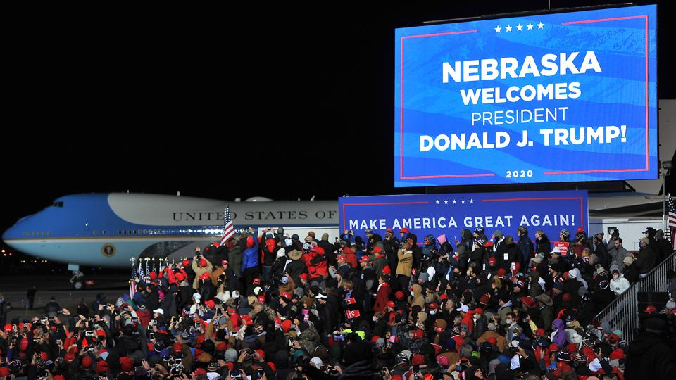 President Trump Holds Campaign Rally In Omaha