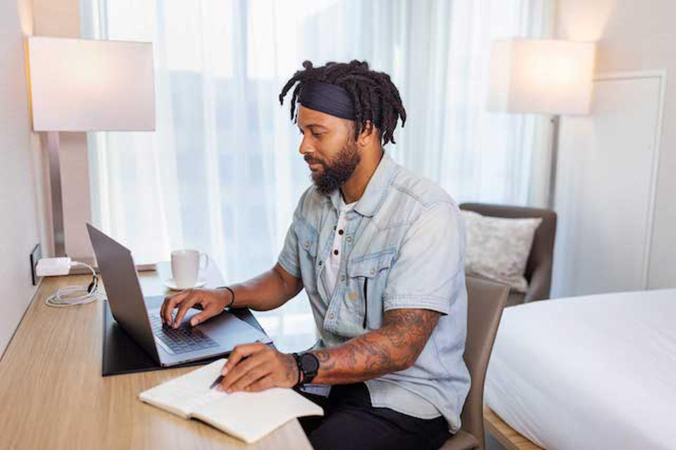 Serenity Now: Working in a hotel room