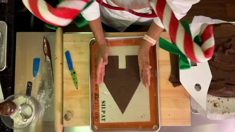 A still from Carla Hall's class on gingerbread basics