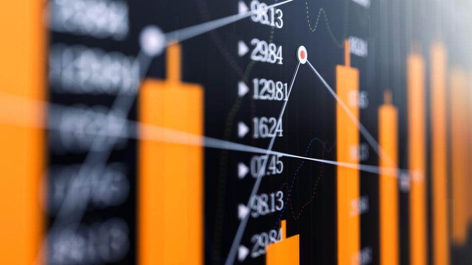 Stock market graph , Financial Data Analysis