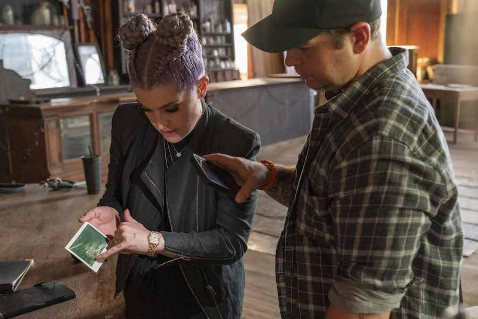 Jack and Kelly Osbourne reviewing evidence of ghosts.