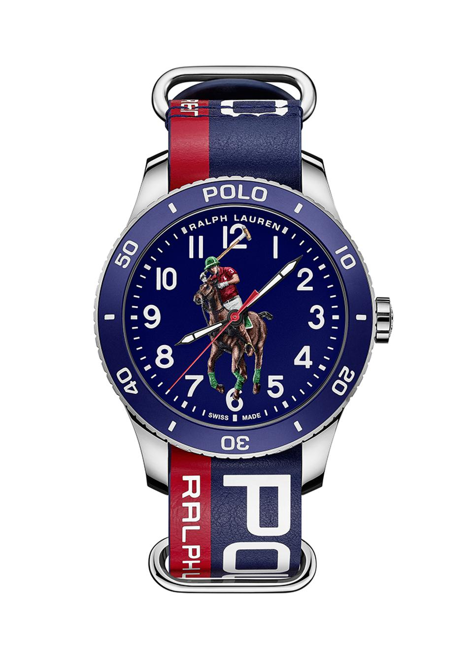 Ralph Lauren Polo Watch in blue on a NATO strap