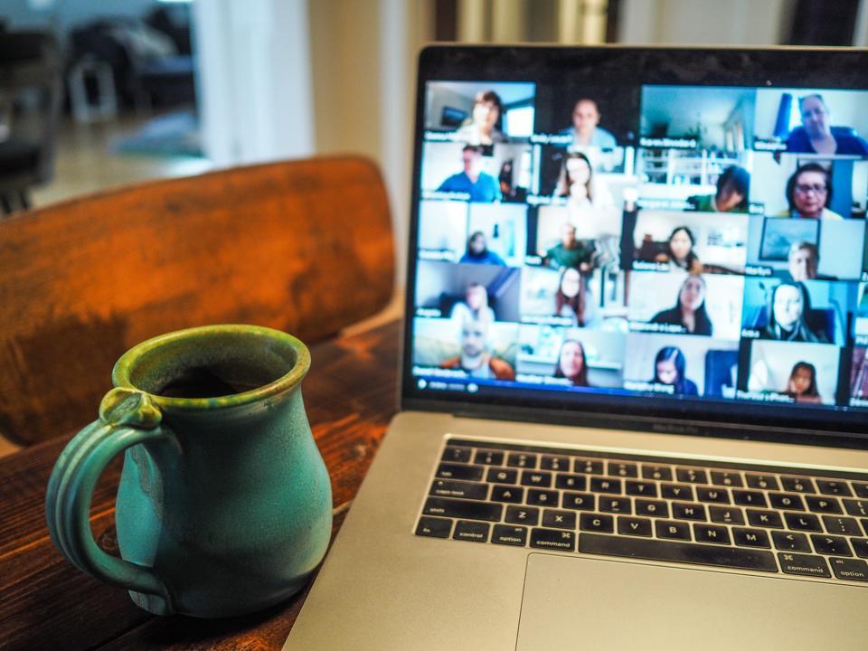 Meeting on laptop