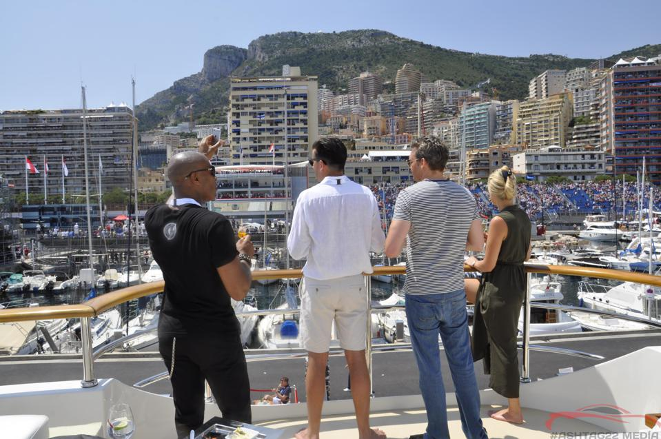 A yacht during the Monaco Grand Prix is the ultimate ″luxury box.″