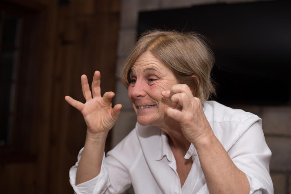 Women playing mime games