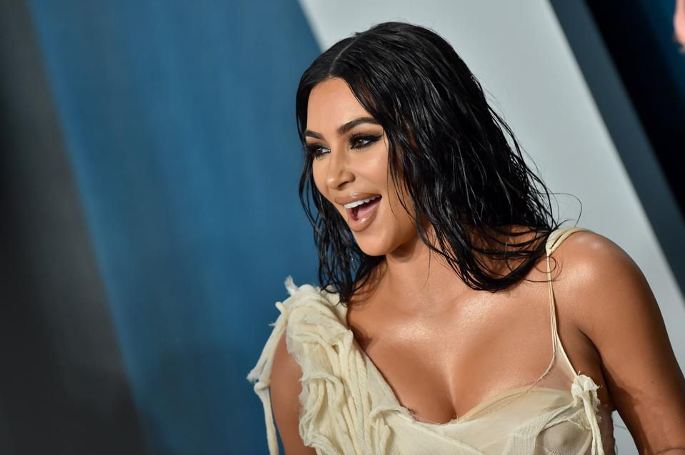 Kim Kardashian West attends the 2020 Vanity Fair Oscar Party