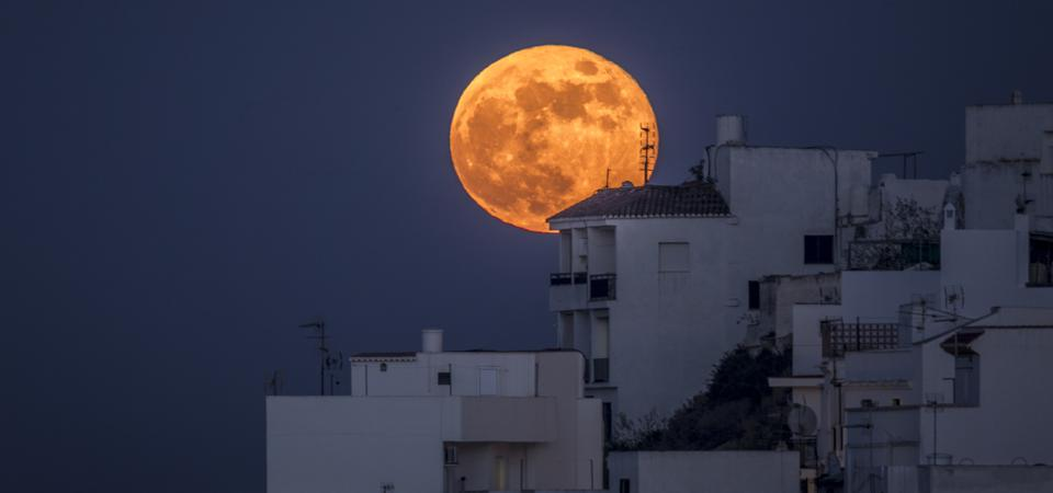 How, when and where you can see a spooky 'Halloween Hunter's Blue Blood Moon' full moon this weekend.