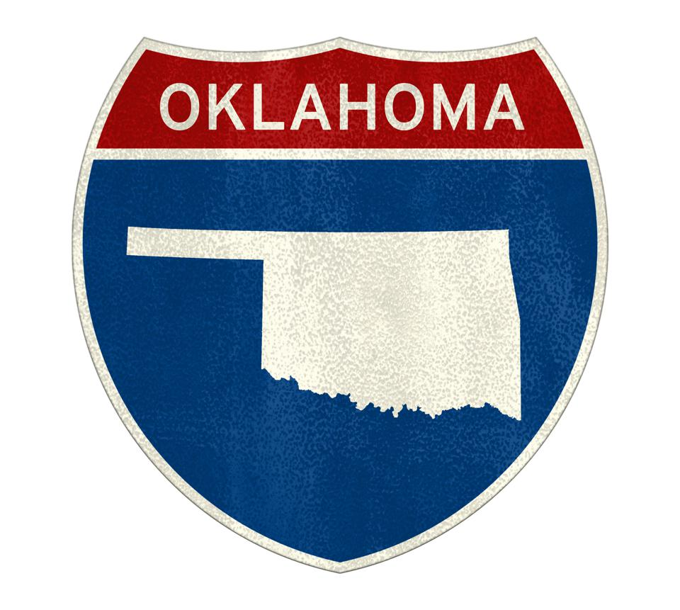 Oklahoma Interstate road sign