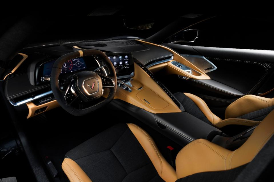 interior of Chevrolet Corvette Stingray convertible