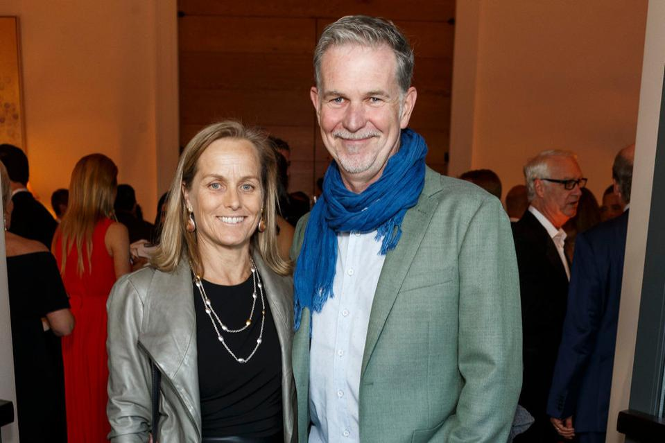 Patty Quillin and Reed Hastings.